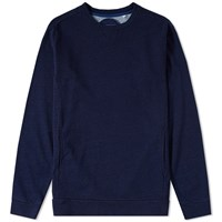 Blue Blue Japan Indigo Dyed Crew Sweat Blue