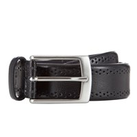 John Lewis Made In Italy Brogue Belt Black
