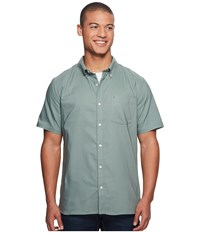 Hurley Dri Fit One Only Short Sleeve Woven Clay Green Men's Clothing
