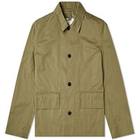 Mhl By Margaret Howell Mhl. Flap Pocket Jacket Green