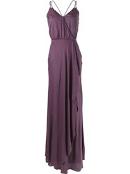Emannuelle Junqueira Long Party Dress Pink And Purple