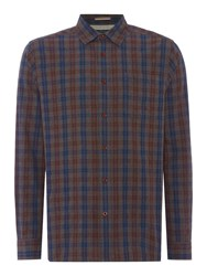 Howick Men's Albany Check Long Sleeve Shirt Grey Marl