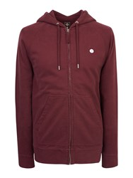 Pretty Green Oxted Hoody Burgundy