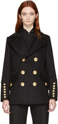 Dsquared2 Black Double Breasted Military Jacket