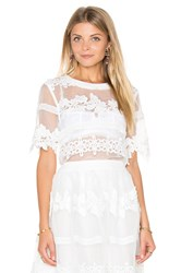 Endless Rose Fayette Top White