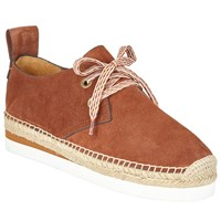 See By Chloe Glyn Lace Up Espadrilles Tan
