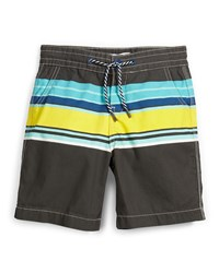 Little Marc Jacobs Striped Poplin Board Shorts Multicolor