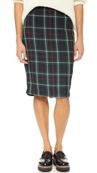 Cupcakes And Cashmere Hope Plaid Pencil Skirt Multi