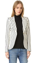 Smythe Striped Duchess Blazer Ivory Black Stripe