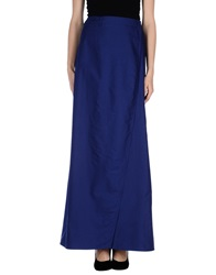 Veronique Branquinho Long Skirts Dark Blue