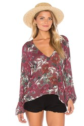 Beach Riot Sage Blouse Burgundy