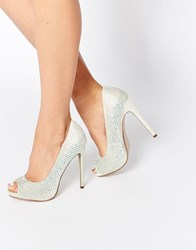 Asos Pearl Bridal Embellished Platforms White