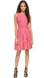 Issa Bay Fit And Flare Dress Coral