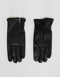 Selected Homme Gloves In Leather Black