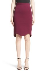 Givenchy Women's Scalloped Hem Pencil Skirt