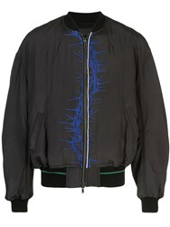 Haider Ackermann Printed Bomber Jacket Black