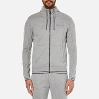 Hugo Boss Green Men's Saggy Zipped Hoody Grey