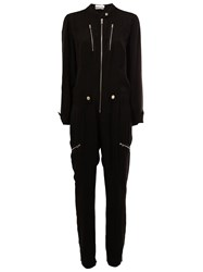 Chloe Zip Front Jumpsuit Black