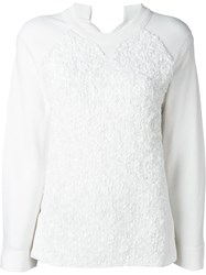 Sonia Rykiel Sequin Embellished Sweatshirt White