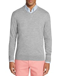 Vineyard Vines Performance V Neck Sweater Gray Heather