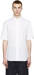 3.1 Phillip Lim White Tonal Stripe Shirt