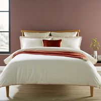 Christy Santa Fe Duvet Set Rust Orange White