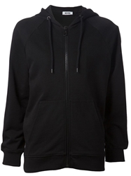 Moschino Cheap And Chic Zip Front Hoodie Black