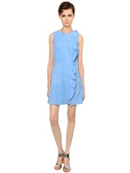 Yves Salomon Ruffled Suede Dress