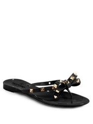 Valentino Rockstud Jelly Thong Sandals Blush Black