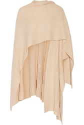 Madeleine Thompson Ribbed Cashmere Wrap Beige