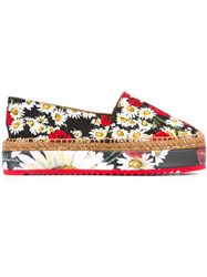 Dolce And Gabbana Daisy Poppy Print Espadrilles 8Q885 Multicolor