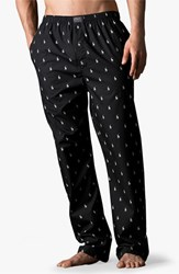 Men's Big And Tall Polo Ralph Lauren Print Lounge Pants Rl Black