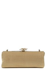 Whiting And Davis 'Crystal Flower' Metal Mesh Clutch