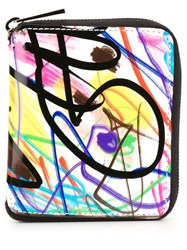 Jeremy Scott Graffiti Print Wallet
