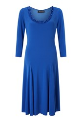 James Lakeland Crepe Mid Length Dress Blue