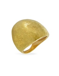 Torrini Elena Flamed 18K Yellow Gold Shield Ring
