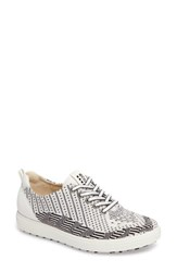 Ecco Women's Casual Hybrid Knit Golf Sneaker White Black White Leather
