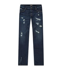 Just Cavalli Washed Distressed Jeans Male Blue