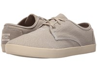 Toms Paseo Oxford Tan White Woven Men's Lace Up Casual Shoes