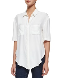Frame Le Elbow Button Shirt Blanc