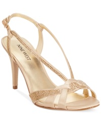 Nine West Illona Mid Heel Evening Sandals Women's Shoes Blush