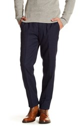 Ted Baker Welltro Classic Fit Flat Front Trouser Blue