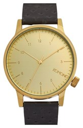 Komono Men's 'Winston' Round Leather Strap Watch 42Mm