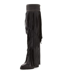 Ivy Kirzhner Wild Tall Fringe Boot Black