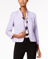 Nine West Three Quarter Sleeve Blazer Wisteria