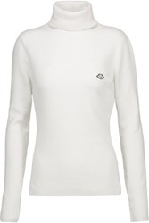 See By Chloe Ribbed Knit Turtleneck Sweater Off White