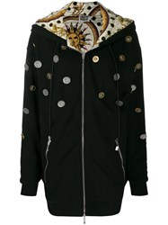 Fausto Puglisi Hooded Coin Coat Black