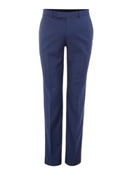 Simon Carter Slim Sharkskin Peak Trousers Navy