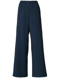Emporio Armani Wide Leg Trousers Blue