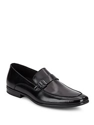 Kenneth Cole Fare Shake Leather Loafers Black